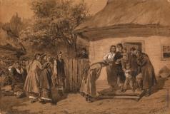Трутовский К. А. Свадьба в украинской деревне