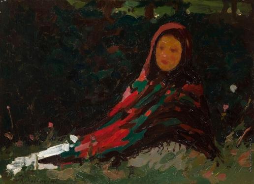 Малявин Ф. А. Девушка в ярком платке