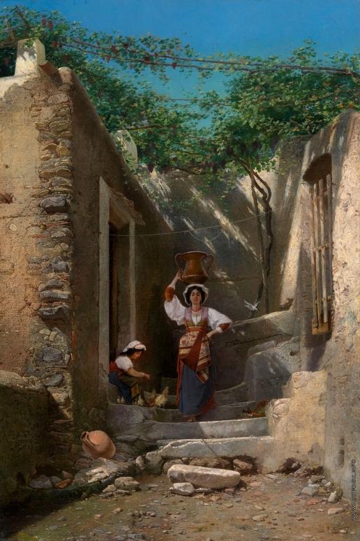 Риццони А. А. Двор в Риме