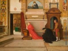 Риццони А. А. Посещение кардиналом церкви Сант-Онофрио-аль-Джаниколо, в Риме
