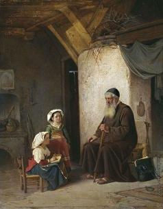 Риццони А. А. Пустынник, выслушивающий урок