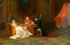 Риццони А. А. Прием гостей у кардинала