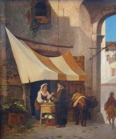 Риццони А. А. Сбор на монастырь во Фраскатти