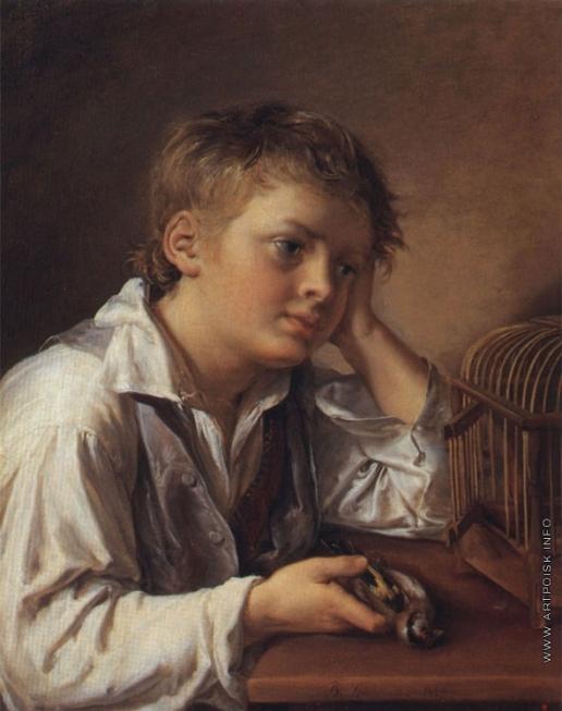 Тропинин В. А. Мальчик с мертвым щегленком
