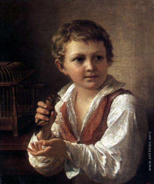 Тропинин В. А. Мальчик со щегленком