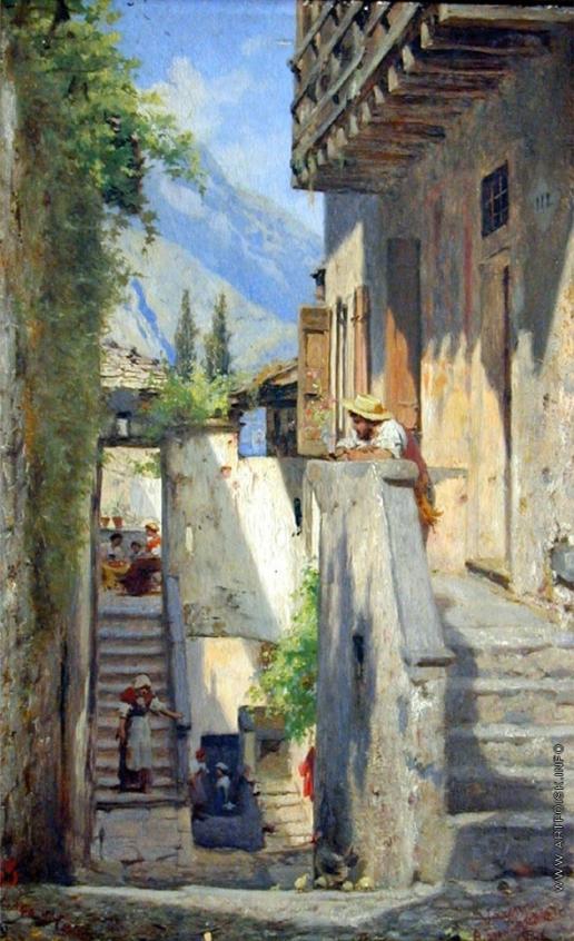 Бронников Ф. А. Улица в итальянском городе