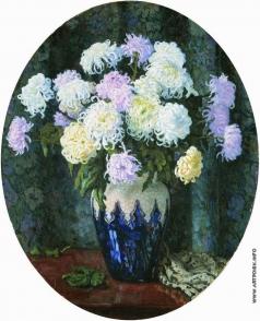 Богданов-Бельский Н. П. Натюрморт с хризантемами