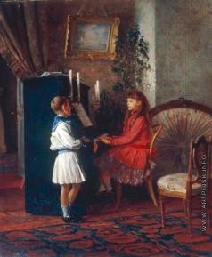 Лемох К. В. Дети за пианино