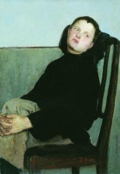 Богданов-Бельский Н. П. Отдыхающий мальчик