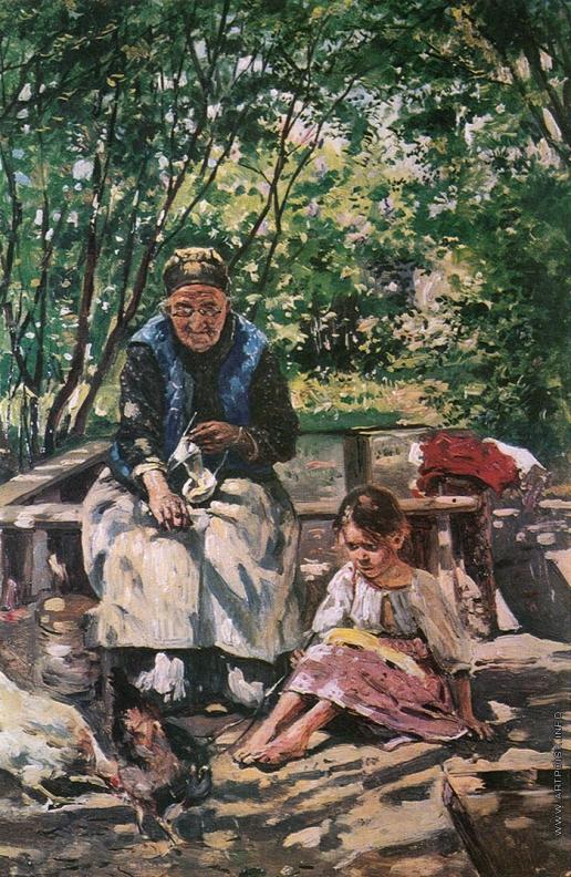 Маковский В. Е. Бабушка и внучка