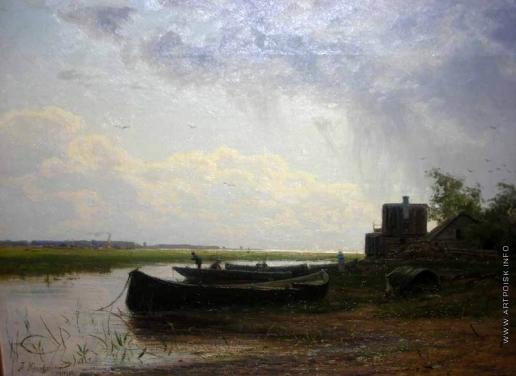 Крачковский И. Е. Пейзаж с лодкой