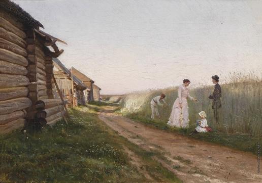 Крачковский И. Е. У кукурузного поля