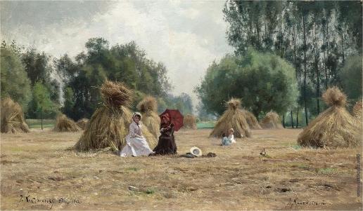 Крачковский И. Е. На собранном кукурузном поле