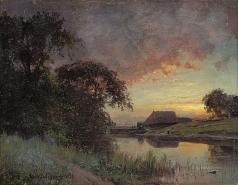 Крачковский И. Е. Сумерки на реке