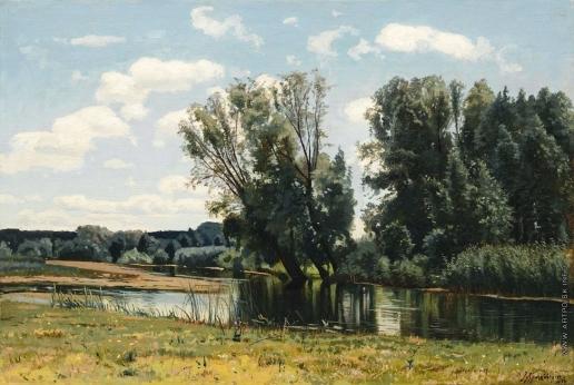 Крачковский И. Е. Пейзаж с прудом