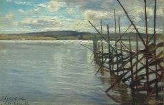 Крачковский И. Е. Речной пейзаж