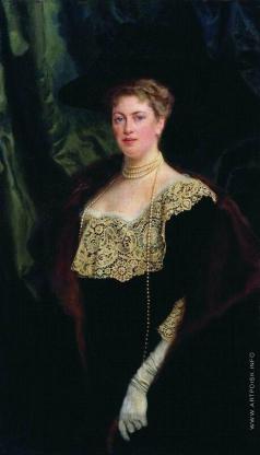 Богданов-Бельский Н. П. Портрет неизвестной дамы в черном платье с кружевным воротником