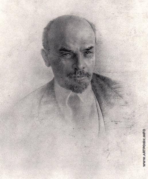 Кацман Е. А. Портрет В.И. Ленина