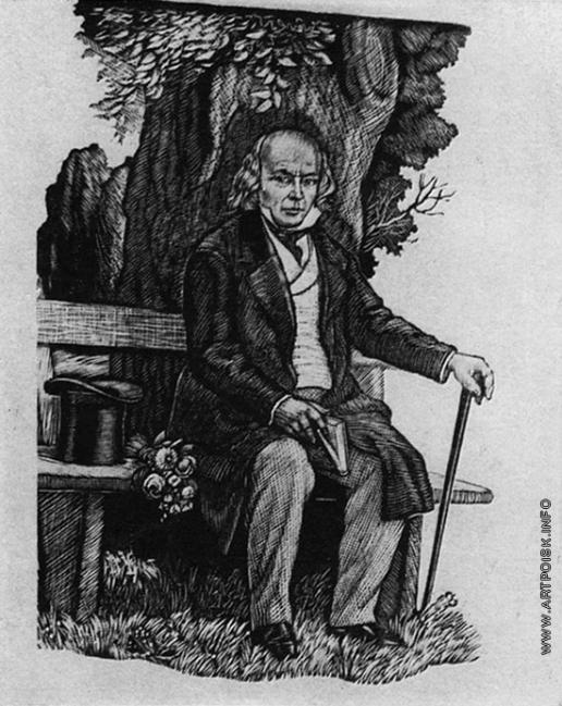 Фаворский В. А. Иллюстрация к сборнику песен Роберта Бернса