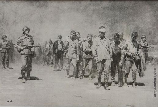 Волков Ю. В. Эскиз «Вели пленных советских воинов»