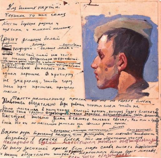 Волков Ю. В. Голова солдата. Этюд к картине