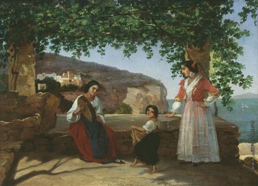 Мокрицкий А. Н. Рим. Итальянки на террасе (Тарантелла)