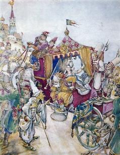 Щеглов М. М. Иллюстрация к сказке А. С. Пушкина «Золотой петушок»