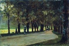 Боголюбов А. П. Аллея в парке. Лихтенштейн