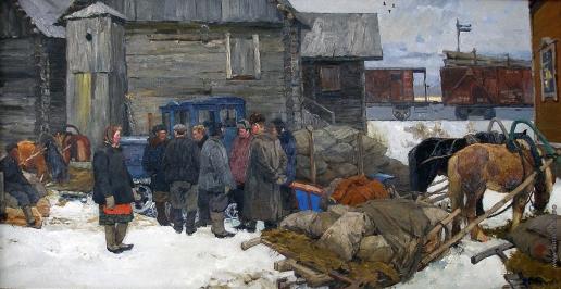 Стожаров В. Ф. Сдача хлеба государству. Путятино
