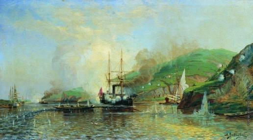 "Боголюбов А. П. Атака катера ""Шутка"" турецкого парохода на Дунае 14 мая 1877 года"