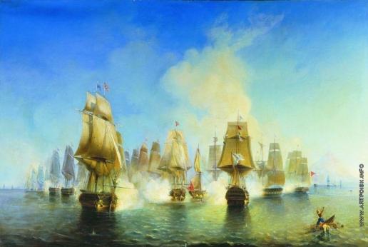 Боголюбов А. П. Афонское сражение 19 июня 1807 года