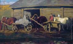 Попов И. А. Лошадки у мельницы