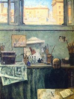 Попов И. А. В мастерской