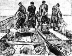 Попов И. А. Лов рыбы