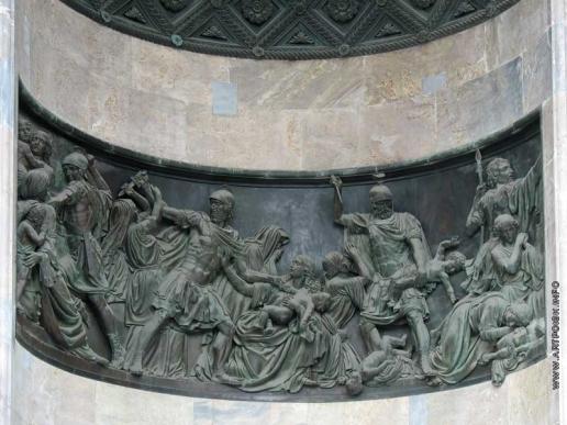 Логановский А. В. Горельеф «Избиение младенцев» в южном портике Исаакиевского собора в Санкт-Петербурге