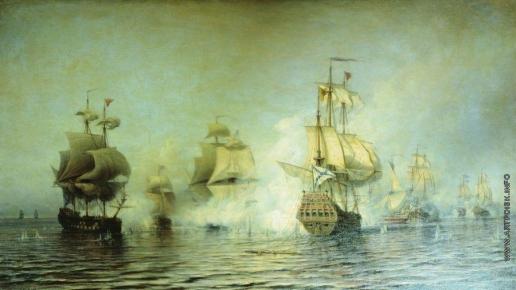 Боголюбов А. П. Бой у острова Эзель 24 мая 1719 года