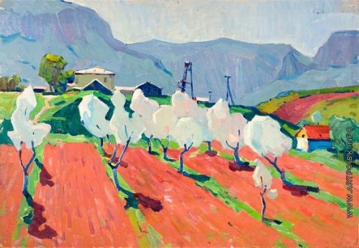 Мамчич С. Г. Второй этюд к картине «Весеннее солнце»