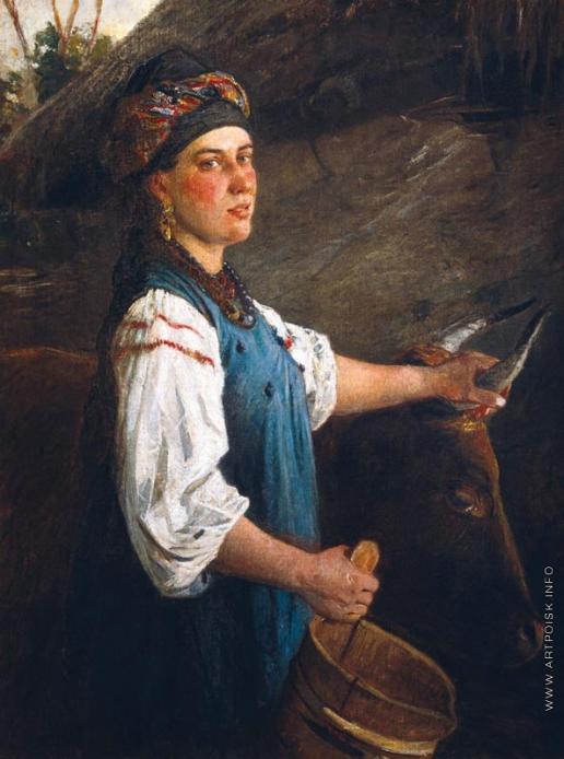 Ге Н. Н. Портрет А.Г. Слюсаревой, жены сына художника. (Галка с волами)
