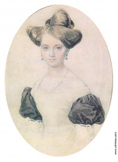 Соколов П. Ф. Женский портрет