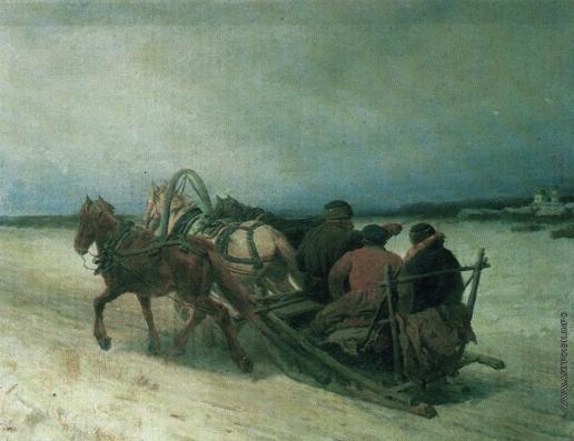 Соколов П. П. Тройка зимой