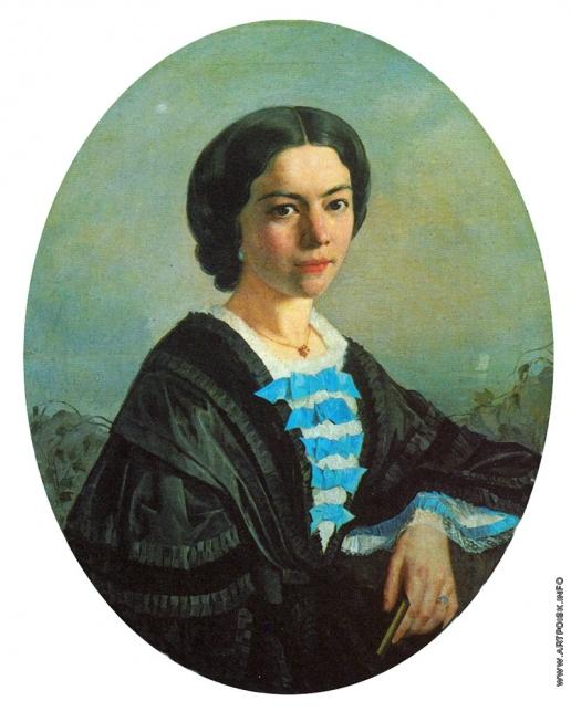 Мясоедов Г. Г. Портрет Елизаветы Михайловны Кривцовой, жены художника
