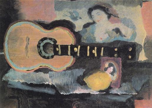 Лебедев В. В. Натюрморт с гитарой и японской гравюрой