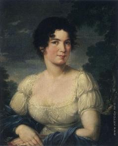 Жданов Портрет молодой женщины в белом платье