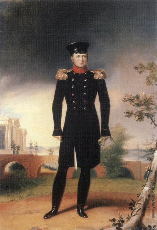Доу Д. Ф. Портрет императора Александра I на фоне Камероновой галереи