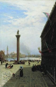Боголюбов А. П. Венеция. Площадь Пьяцета