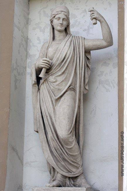 Пименов С. С. Статуя Афины. Елагин дворец. Кухонный корпус. Статуя в нише