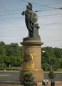 Козловский М. И. Памятник Суворову возле Троицкого моста