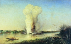 Боголюбов А. П. Взрыв турецкого броненосца «Люфти-Джелиль» на Дунае 29 апреля 1877 года