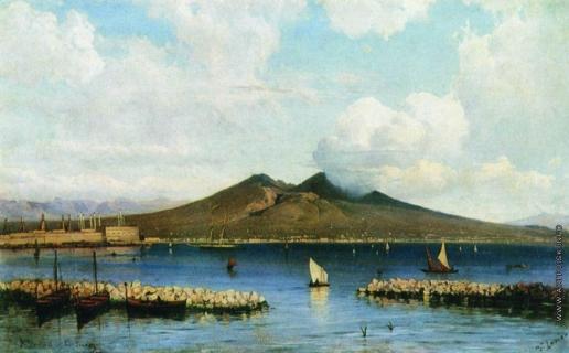 Боголюбов А. П. Вид Везувия с моря