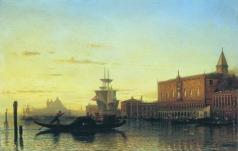 Боголюбов А. П. Вид Венеции. Дворец дожей